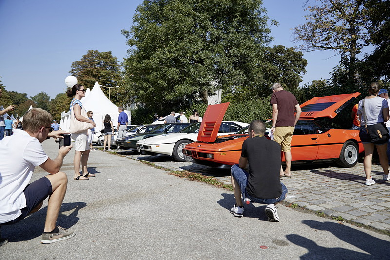 BMW Festival. BMW Clubs in der Parkharfe im Olympiapark: Faszination BMW M1