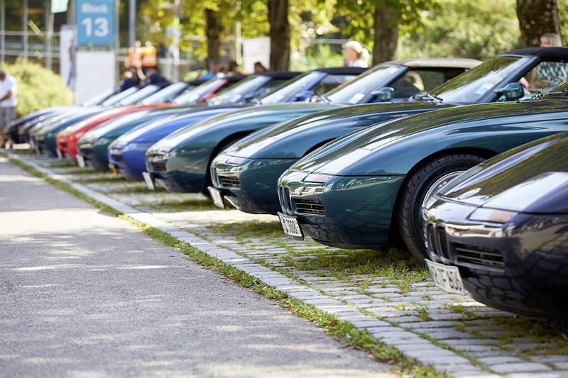 BMW Festival. BMW Clubs in der Parkharfe im Olympiapark: BMW Z1