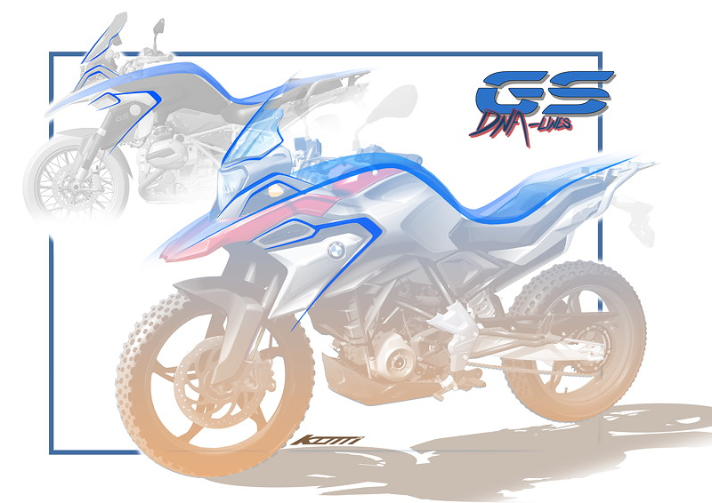 BMW G 310 GS, Design
