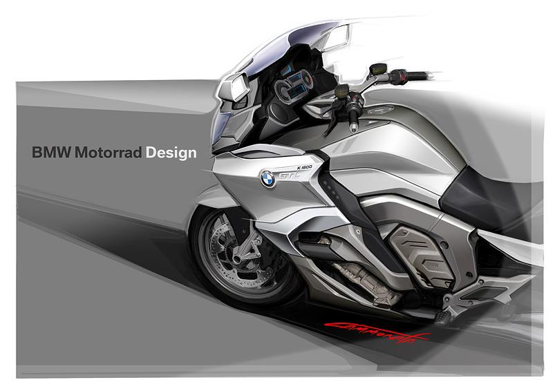 BMW K 1600 GTL, Designzeichnung