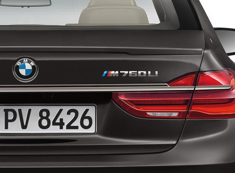 BMW M760Li xDrive, Typbezeichnung auf der Heckklappe