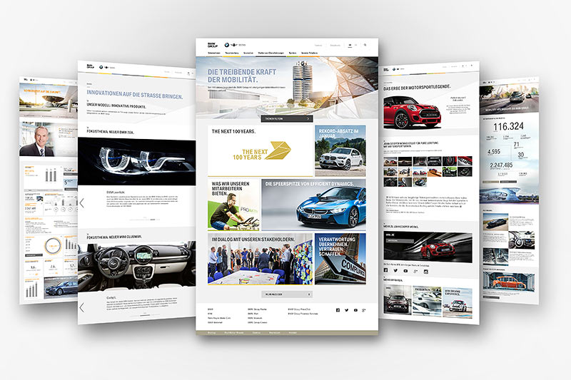 Die neue www.bmwgroup.com mit überarbeitetem Design, neuer Bildsprache und zusätzlicher Funktionalität.