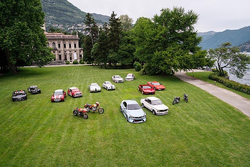 Die Hommage-Fahrzeuge der BMW Group, erstmals gemeinsam ausgestellt.
