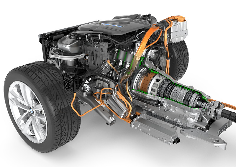 BMW 7er Plug-in-Hybrid iPerformance, Antriebsstrang