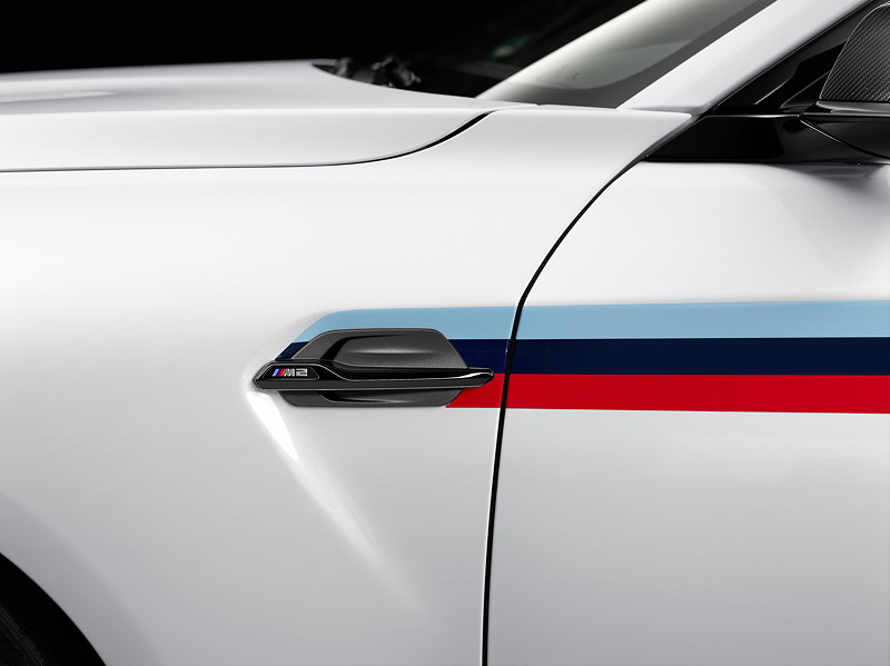 BMW M2 Coupé mit BMW M Performance Zubehör: Kiemenelement
