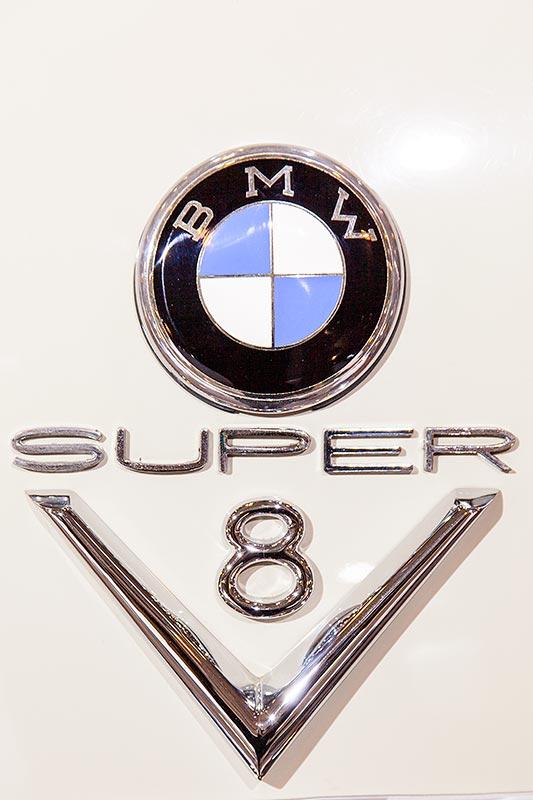 BMW 502 3,2 Liter Super mit V8-Motor, Typ-Bezeichnung auf der Heckklappe