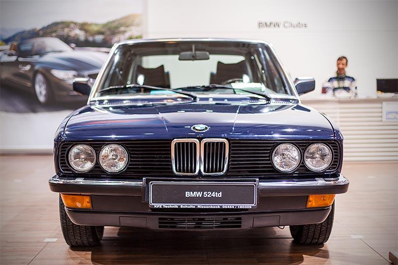 BMW 524td (E28, Japan-Import) von Jürgen Schulte auf der Techno Classica 2016