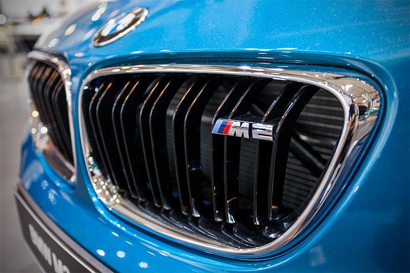 BMW M2, Typbezeichnung in der Niere, M-typisch Doppelstab-Niere