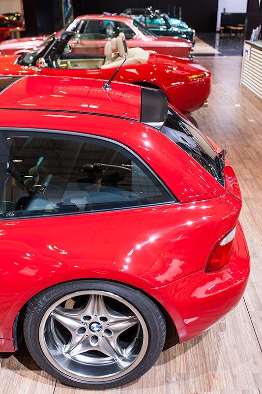 BMW M coupé mit bulligem Heck, ausgestellt auf der Techno Classica 2016