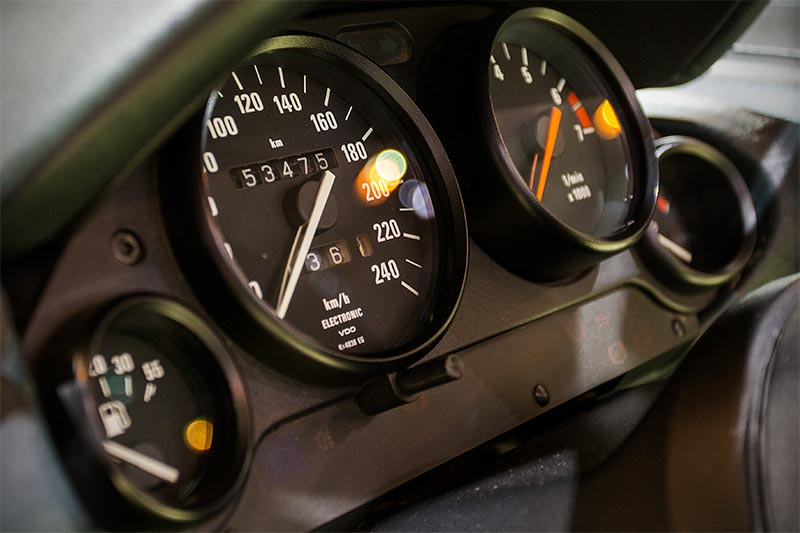 BMW Z1, Tacho-Instrumente, Tacho-Stand: 53.475 km