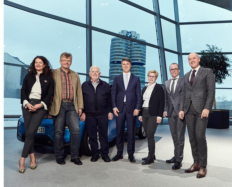 Stefanie Wurst, Jürgen Schulten, Wilhelm Schulten, Harald Krüger, Ute und Gerd Boomers, Rudolf Leberfing (v.l.n.r.).