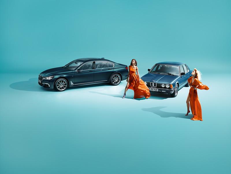 Der BMW 7er Edition 40 Jahre und der erste BMW 7er aus dem Jahr 1977