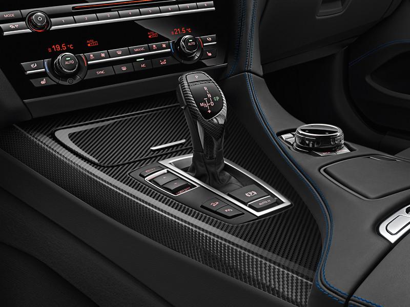 M Sport Limited Edition der BMW 6er Reihe, Gangwahlschalter mit Carbon-Applikationen