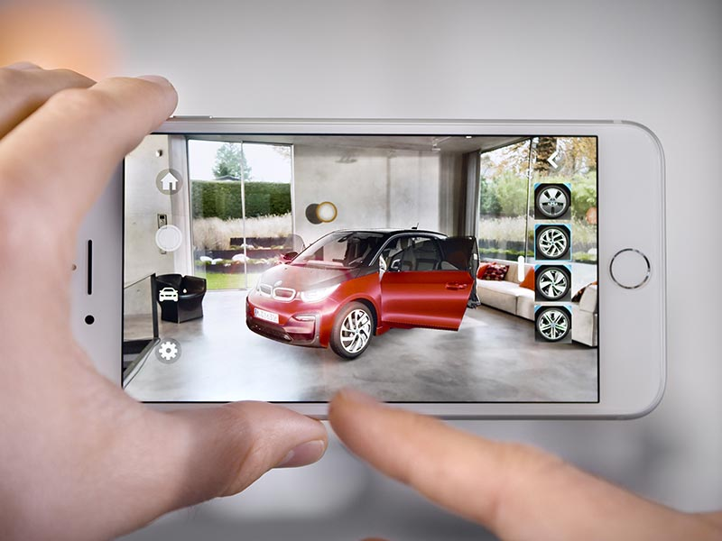 BMW i nutzt als eine der ersten Automobilmarken weltweit das Apple ARKit mit iOS 11 für eine Augmented-Reality App