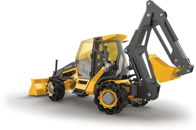 Neueste Material- und Technologie-Innovationen eröffnen gänzlich neue Gestaltungsmöglichkeiten für den Grabenbagger der Zukunft.