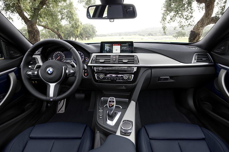 BMW 4er Facelift 2017 Interieur Neu Leder Dakota Nachtblau