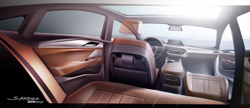 BMW 6er Gran Turismo, Design, Interieur Skizze