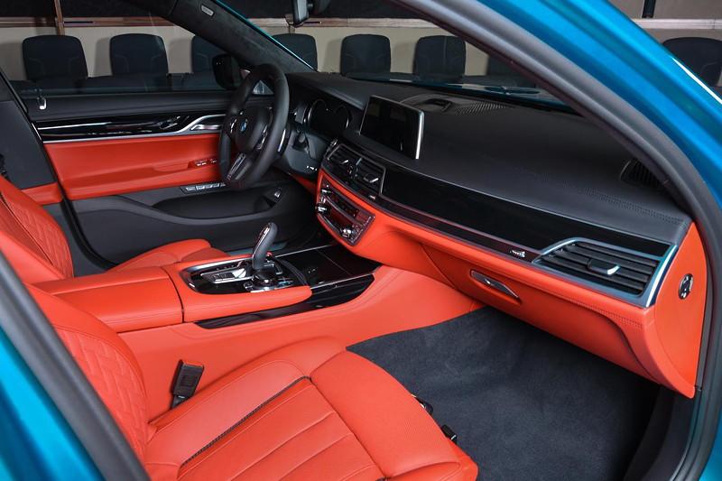 BMW 750Li xDrive (G12) mit BMW Individual Merino Voll-Leder Ausstattung in Fiona rot.