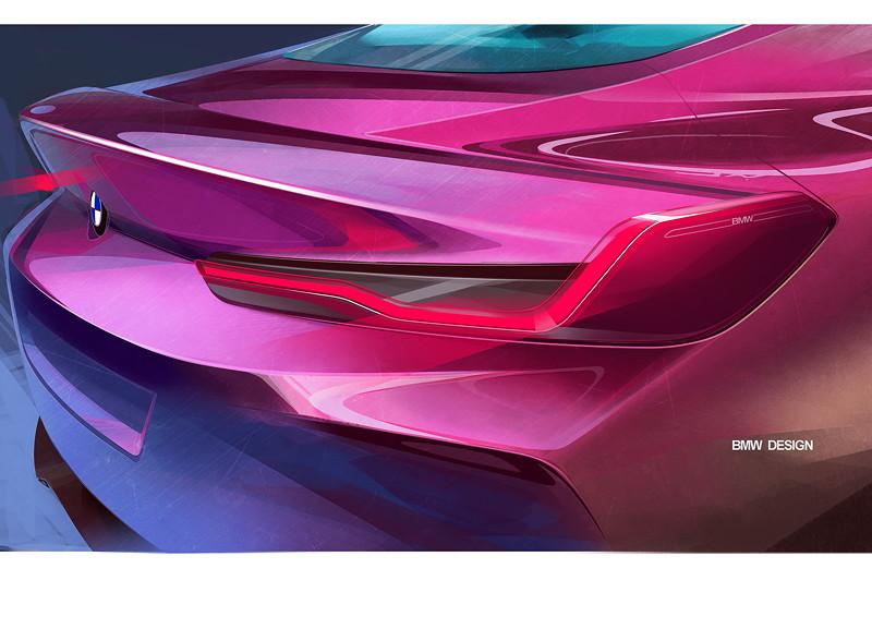 BMW Concept 8 Series, Designskizze