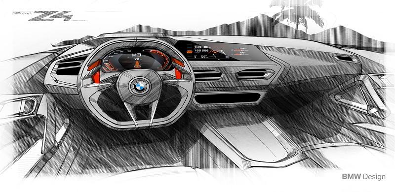 BMW Concept Z4, Design Skizzen Interieur.