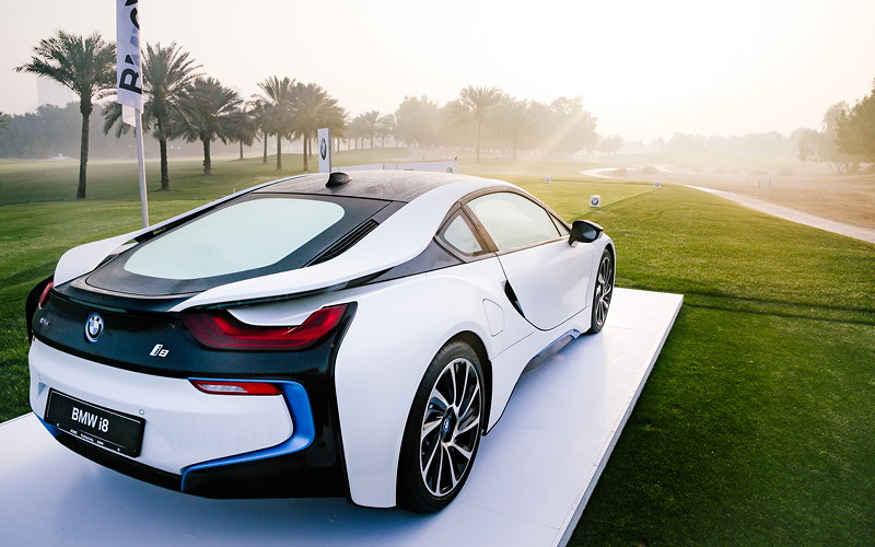 BMW Golf Cup International Weltfinale 2016 in Dubai. BMW i8.