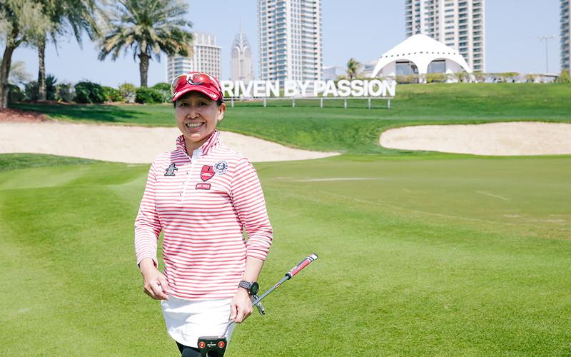 BMW Golf Cup International Weltfinale 2016 in Dubai. Tsung Hui Lee (Taiwan).