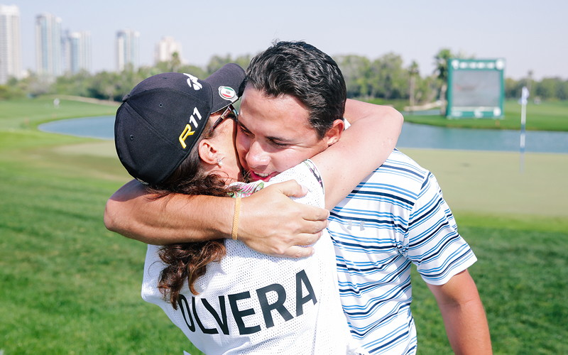 BMW Golf Cup International Weltfinale 2016 in Dubai. Felipe Olvera (Mexico).
