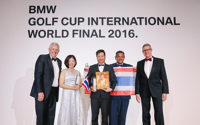 BMW Golf Cup International Weltfinale 2016 in Dubai. Colin Montgomerie, Team Thailand, Johannes Seibert.