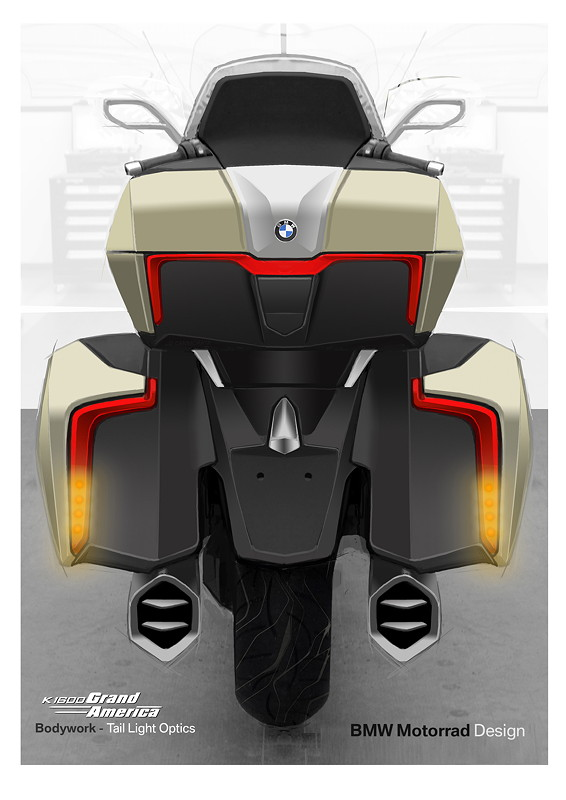 BMW K 1600 Grand America, Designskizze