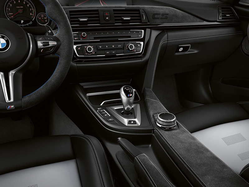 BMW M3 CS, Mittelkonsole