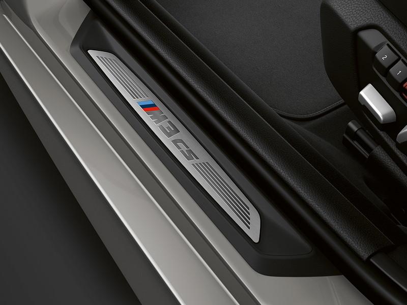 BMW M3 CS, Einstiegsleiste mit Typbezeichnung