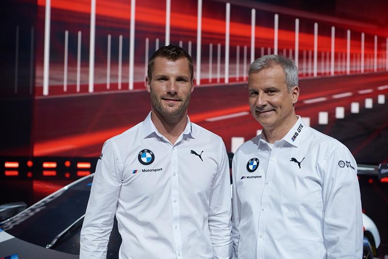 BMW Motorsport Pressekonferenz, IAA, BMW M8 GTE, Martin Tomczyk, BMW Motorsport Direktor Jens Marquardt