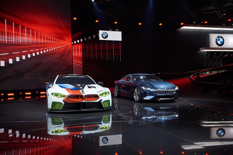 BMW Motorsport Pressekonferenz, IAA, BMW M8 GTE, BMW Concept 8 Series.