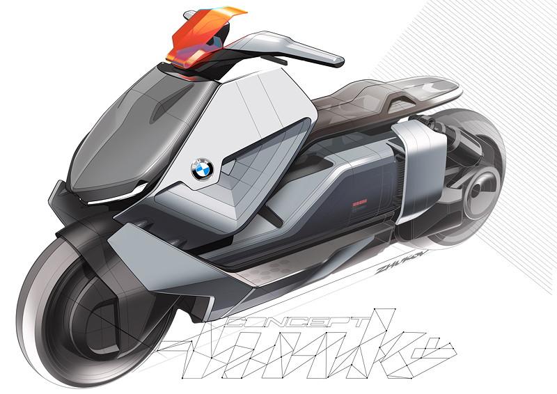 BMW Motorrad Concept Link, Designskizze