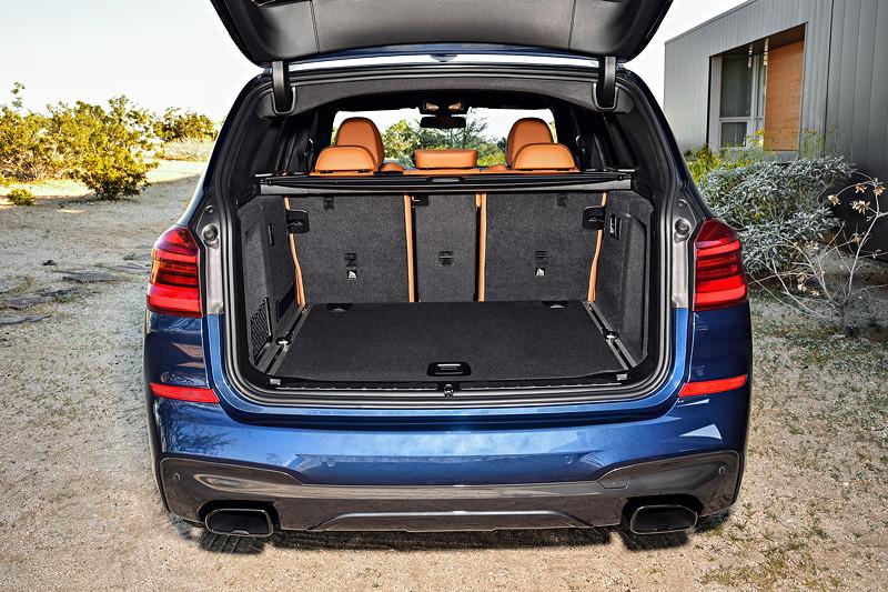 BMW X3 xDrive M40i, Kofferraum mit geteilt umlegbaren Fondsitzen