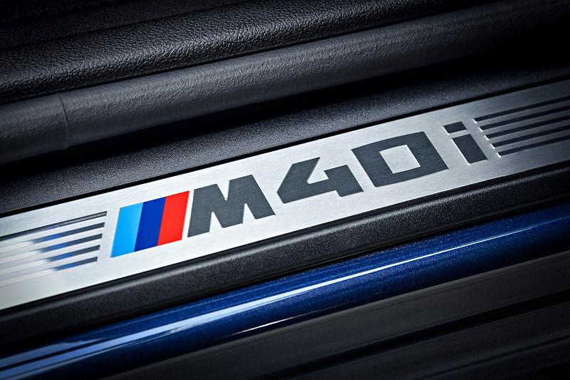 BMW X3 xDrive M40i, Einstiegsleiste mit M40i Schriftzug