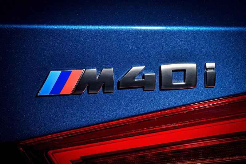 BMW X3 xDrive M40i, Typ-Bezeichnung auf der Heckklappe
