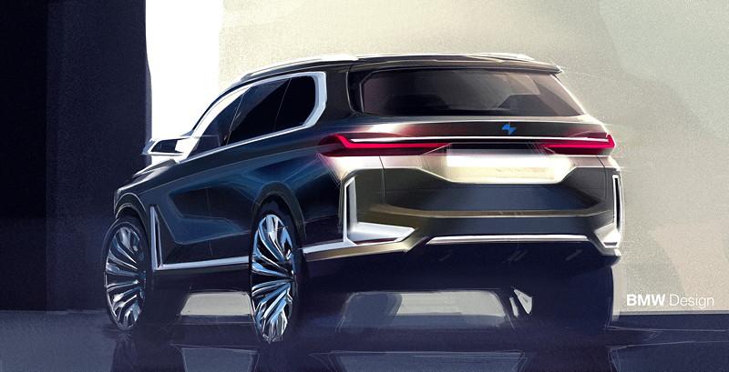 BMW X7 iPerformance Concept, Designskizze