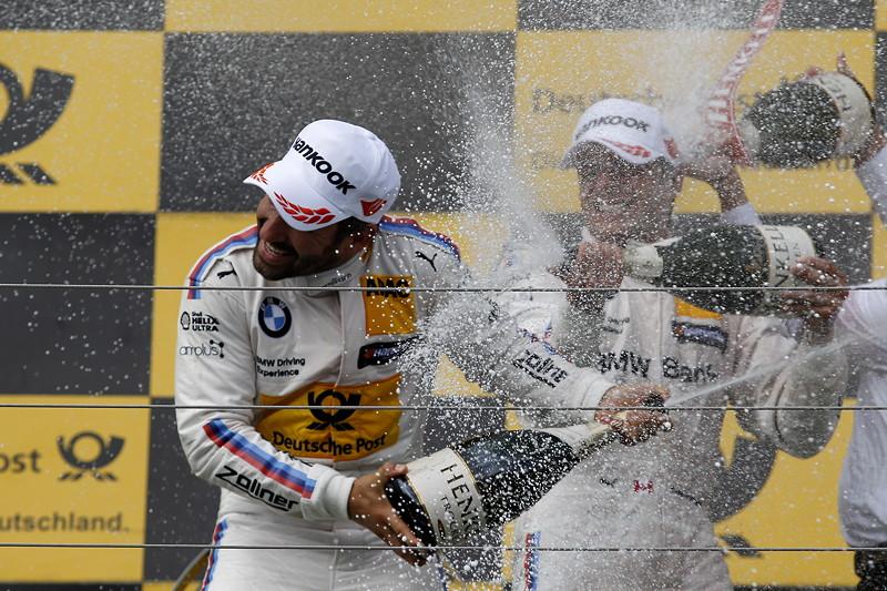 Hungaroring (HUN), 17. Juni 2017. DTM-Rennen 5. Auf dem Siegerpodest: Timo Glock, DEUTSCHE POST BMW M4 DTM, BMW Team RMG (RMR).