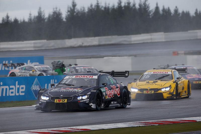 Nürburgring, 9. September 2017, DTM-Rennen 13. Marco Wittmann im Red Bull BMW M4 DTM und Timo Glock im DEUTSCHE POST BMW M4 DTM.