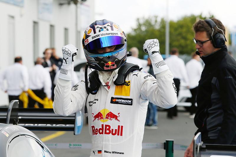 Nürburgring, 10. September 2017. DTM-Rennen 14. Pole Setter Marco Wittmann.