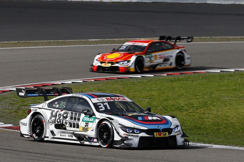 Nürburgring, 10. September 2017. DTM-Rennen 14. Tom Blomqvist (GBR) im BMW Driving Experience M4 DTM und Augusto Farfus (BRA) im Shell BMW M4 DTM.