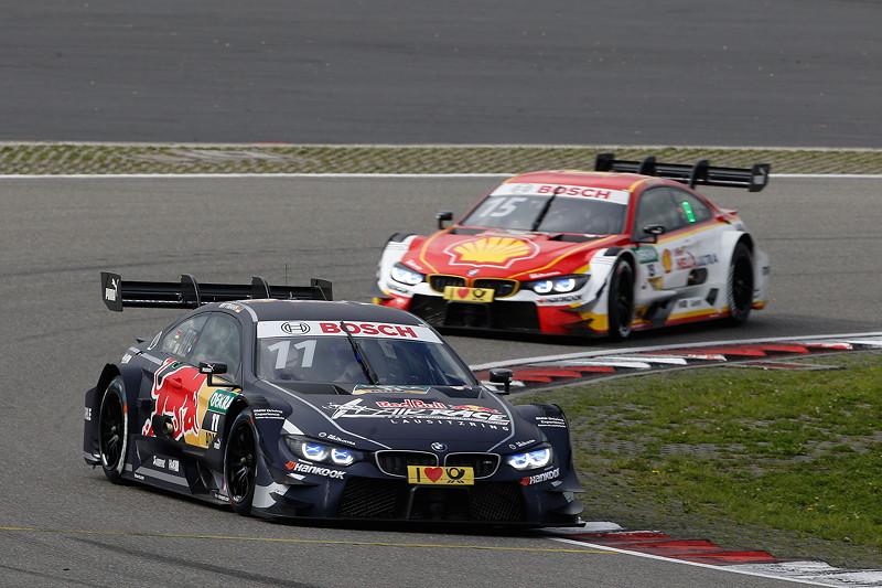 Nürburgring, 10. September 2017. DTM-Rennen 14. Marco Wittmann im Red Bull BMW M4 DTM und Augusto Farfus (BRA) im Shell BMW M4 DTM.