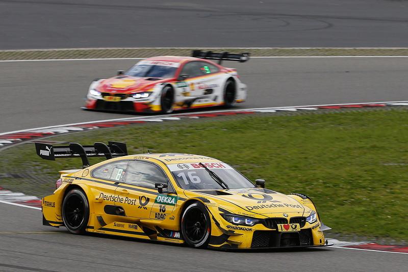 Nürburgring, 10. September 2017. DTM-Rennen 14. Timo Glock im DEUTSCHE POST und Augusto Farfus (BRA) im Shell BMW M4 DTM.