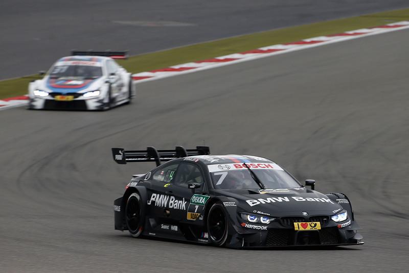 Nürburgring, 10. September 2017. DTM-Rennen 14. Bruno Spengler (CAN) im BMW Bank M4 DTM und Tom Blomqvist (GBR) im BMW Driving Experience M4 DTM.