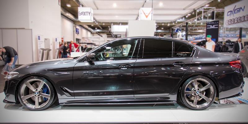 BMW M550i auf der Essen Motor Show 2017 auf 3DDesign Type 3 Forged Felgen in 20 Zoll.