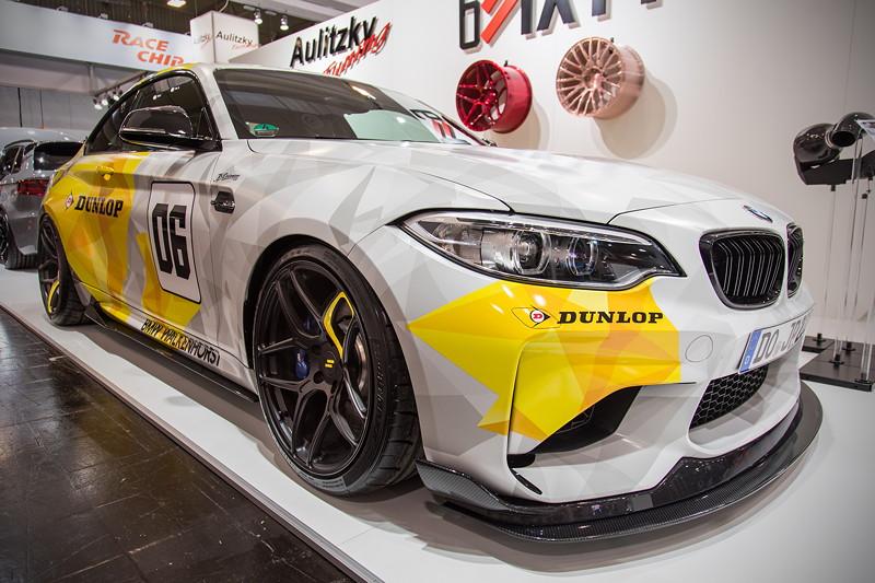 Essen Motor Show 2017: BMW M2 mit Carbon Frontlippe und Carbon Diffusor von RKP.