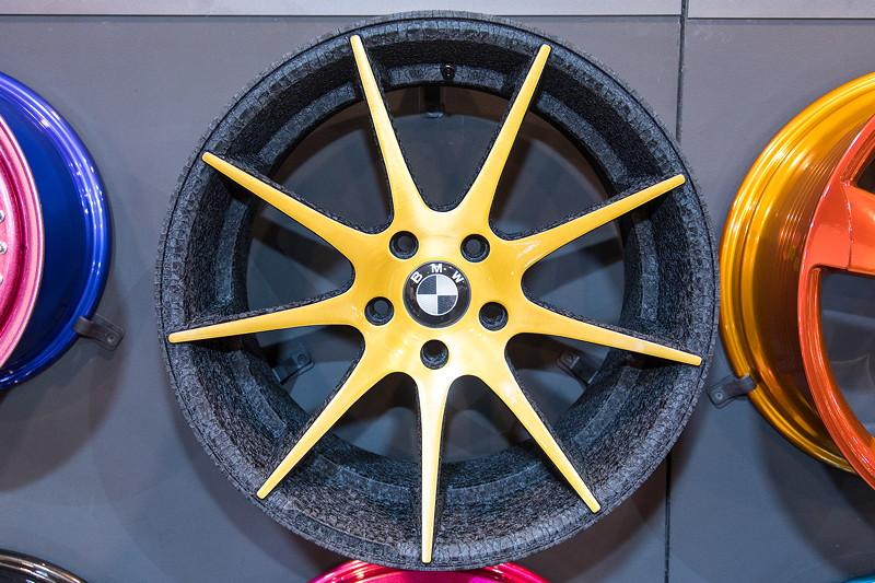 Essen Motor Show 2017: Felgen auf dem Stand der Wheelcompany in Halle 2.