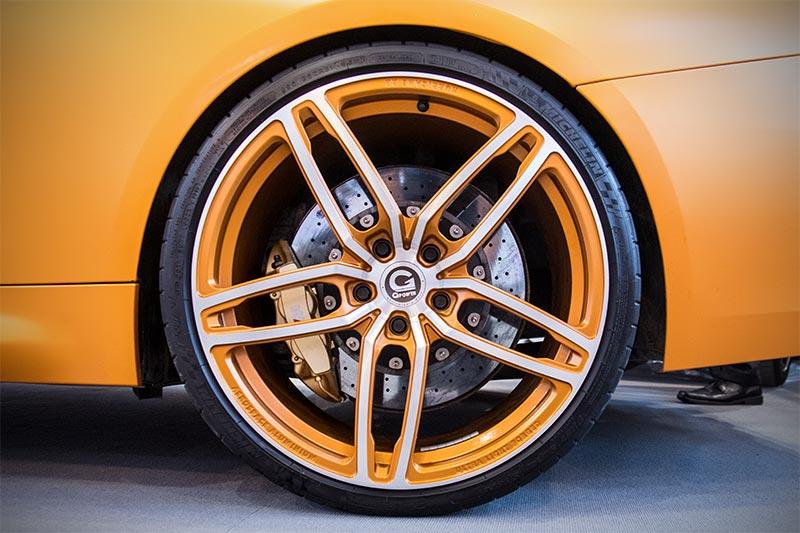 Essen Motor Show 2017: G-Power Schmiederad, ultraleicht, lieferbar in 20, 21 und 23 Zoll.