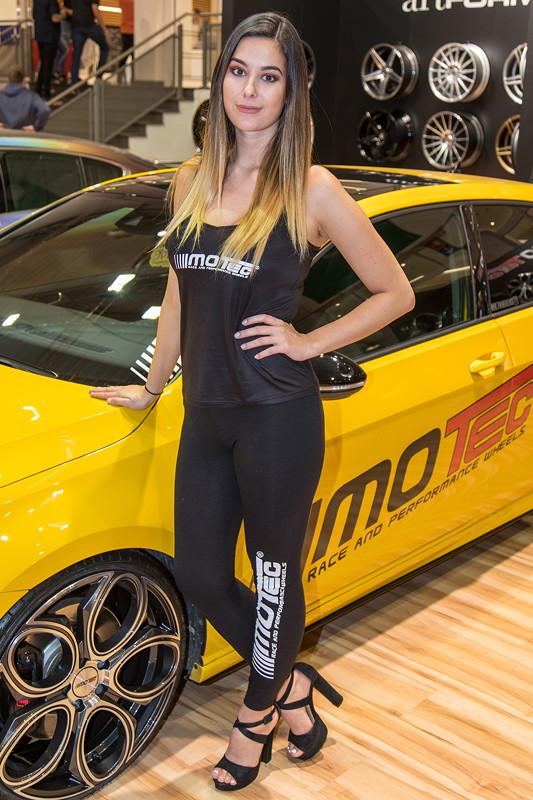 Essen Motor Show 2017, am Stand von Motec-Wheels in Halle 11.